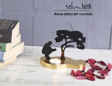 Selim Alone Mumluk Altın Renkli